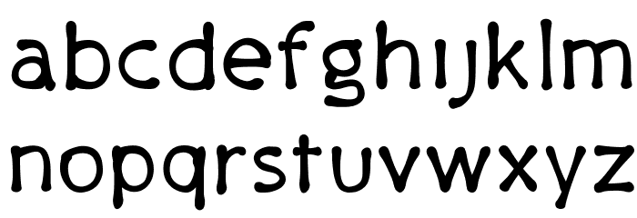 PajamaPants Font LOWERCASE