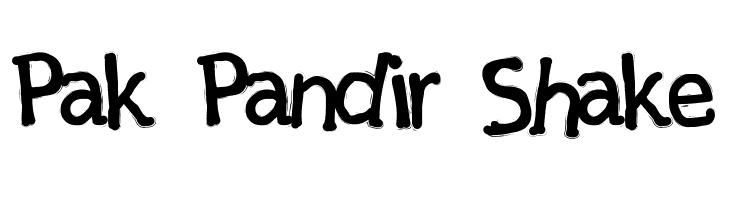 Pak Pandir Shake  Скачать бесплатные шрифты