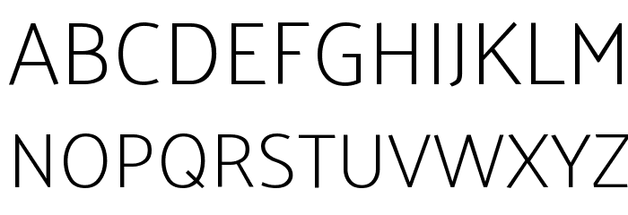 Palanquin Thin Font UPPERCASE