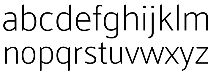 Palanquin Thin Font LOWERCASE