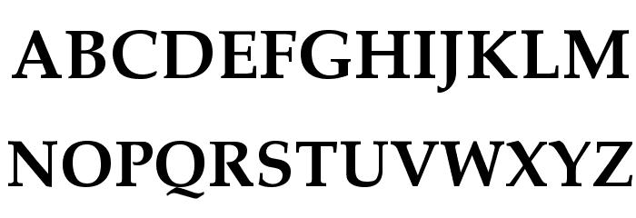 Palatia Bold Font UPPERCASE