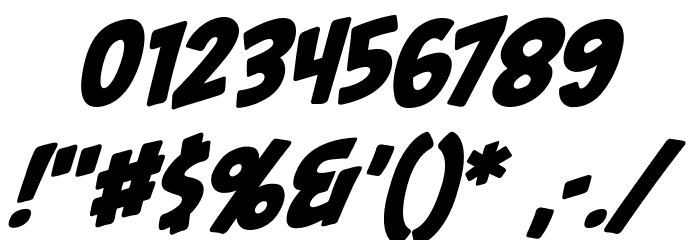 PalookaBB-Italic Fonte OUTROS PERSONAGENS