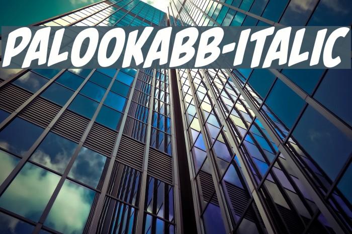 PalookaBB-Italic Fonte examples