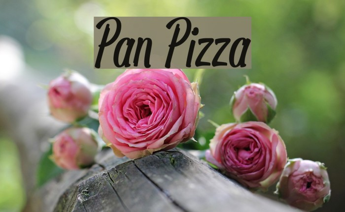 Pan Pizza Fonte examples