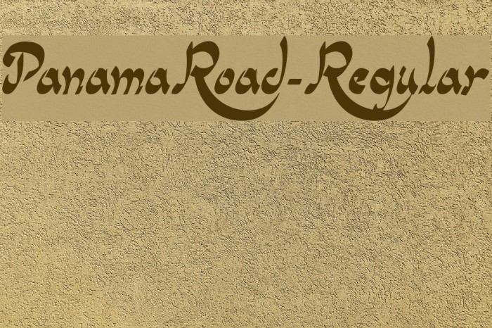 PanamaRoad-Regular फ़ॉन्ट examples