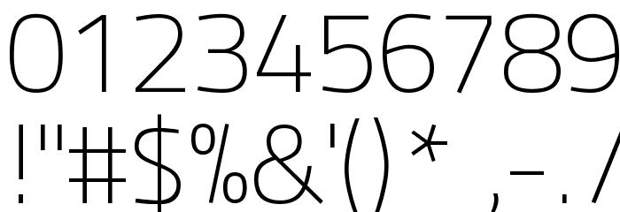 Panefresco 1wt Regular フォント その他の文字