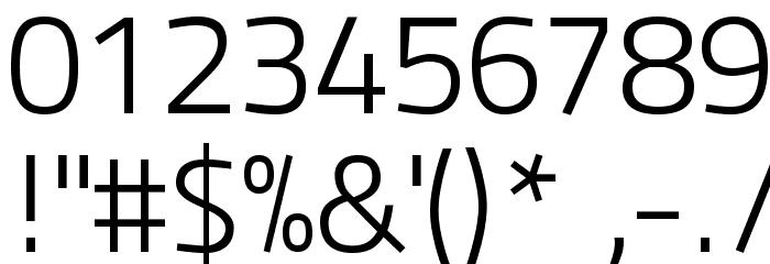 Panefresco 250wt Regular フォント その他の文字