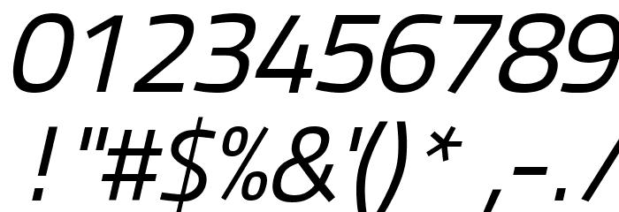Panefresco 400wt Italic フォント その他の文字