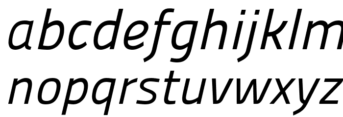 Panefresco 400wt Italic フォント 小文字