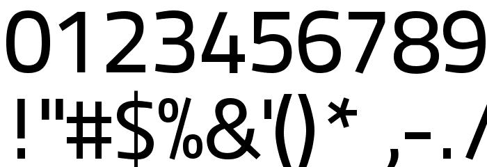 Panefresco 500wt Regular フォント その他の文字