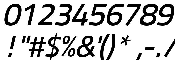 Panefresco 600wt Italic フォント その他の文字