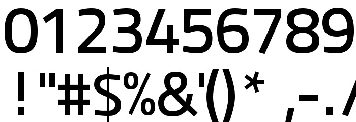 Panefresco 600wt Regular フォント その他の文字