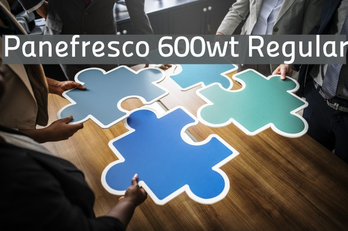 Panefresco 600wt Regular フォント examples
