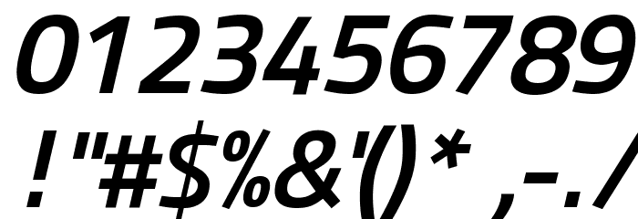 Panefresco 750wt Italic フォント その他の文字