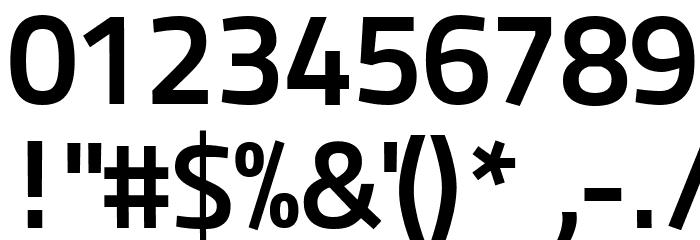 Panefresco 750wt Regular フォント その他の文字