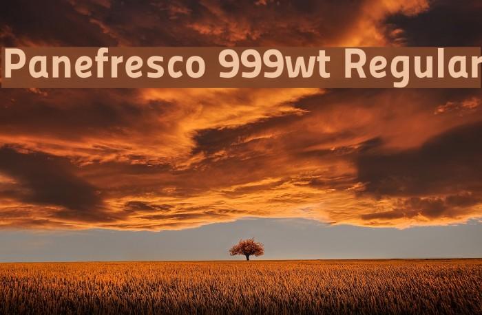 Panefresco 999wt Regular フォント examples