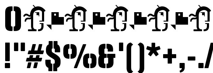Panfleta Stencil Extra Bold Caratteri ALTRI CARATTERI
