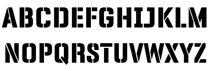 Panfleta Stencil Extra Bold फ़ॉन्ट अपरकेस