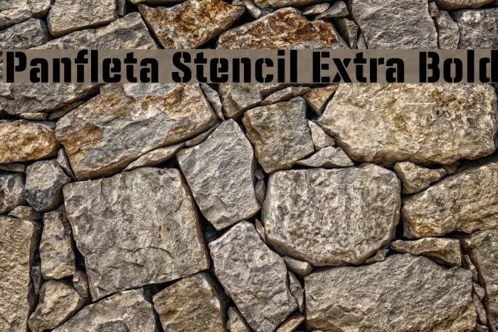 Panfleta Stencil Extra Bold फ़ॉन्ट examples