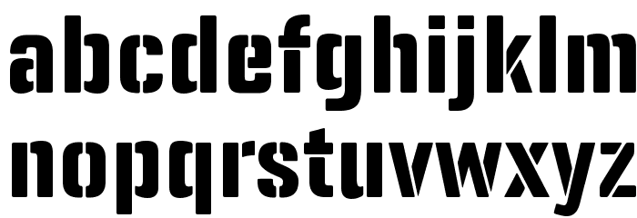 Panfleta Stencil Extra Bold Caratteri MINUSCOLO