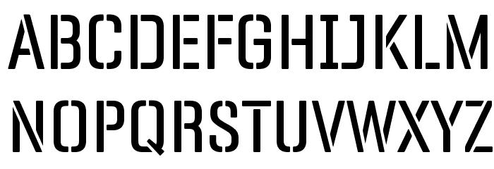 Panfleta Stencil Regular फ़ॉन्ट अपरकेस
