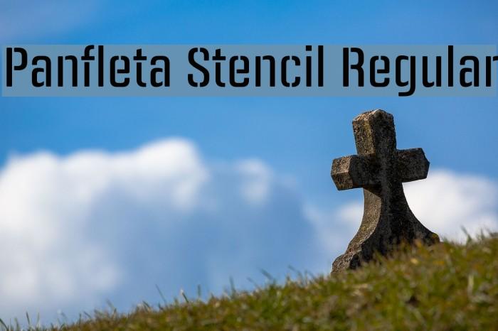 Panfleta Stencil Regular फ़ॉन्ट examples