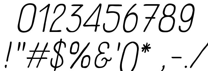 Panforte Pro Light Italic Font OTHER CHARS