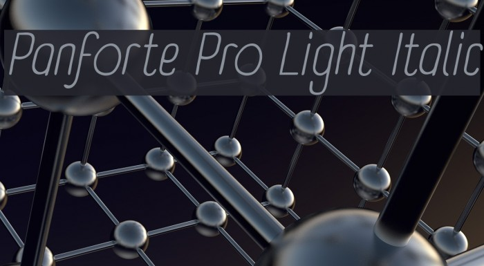 Panforte Pro Light Italic Font examples