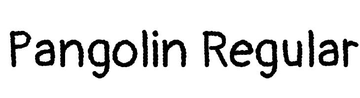 Pangolin Regular  Free Fonts Download