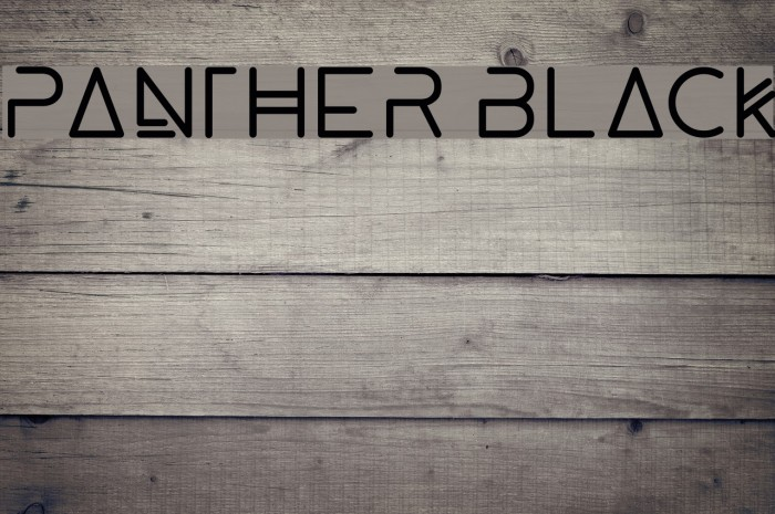 Panther Black Font examples