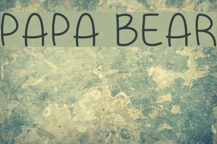 Papa Bear Font examples