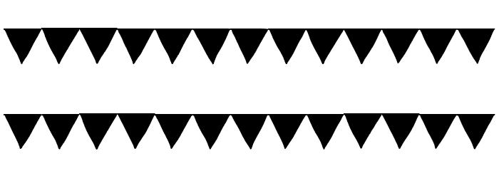 Paper Banner Black Font UPPERCASE
