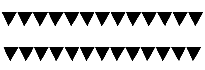 Paper Banner Black Font LOWERCASE
