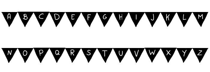 Paper Banner Bold Font UPPERCASE