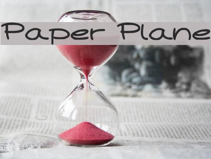 Paper Plane لخطوط تنزيل examples