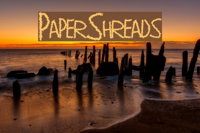 PaperShreads Font examples