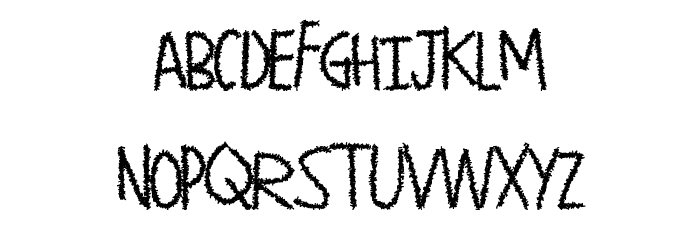 PaperShreads Font LOWERCASE