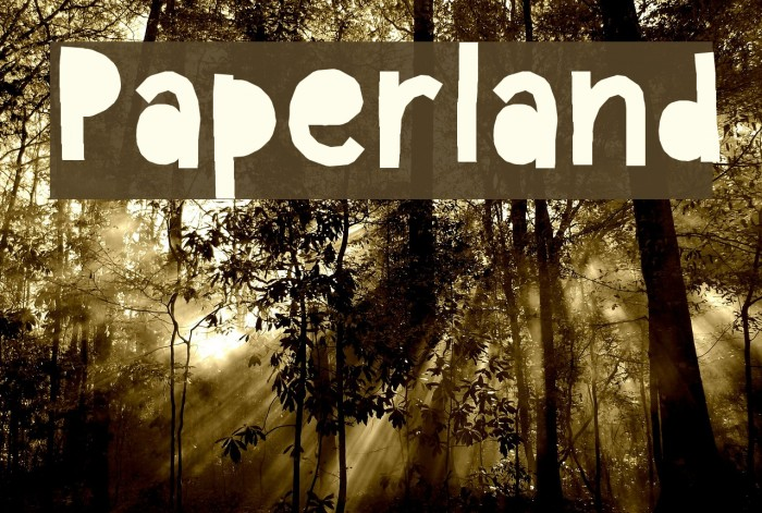Paperland Font examples