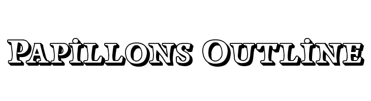 Papillons Outline  Free Fonts Download