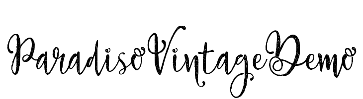 Paradiso Vintage Demo  Free Fonts Download