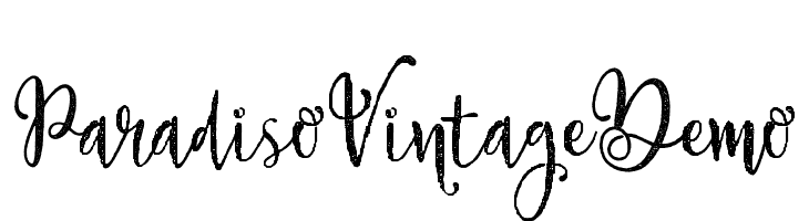 ParadisoVintageDemo  Free Fonts Download
