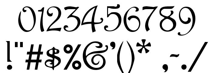 Parisian  Normal Font OTHER CHARS