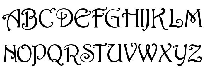 Parisian  Normal Font UPPERCASE