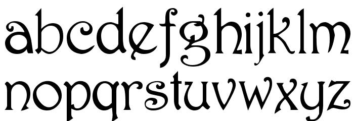 Parisian  Normal Font LOWERCASE