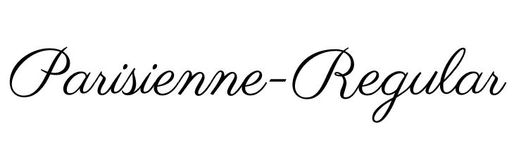 Parisienne-Regular  Free Fonts Download