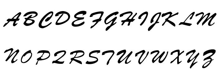 Parquet フォント 大文字