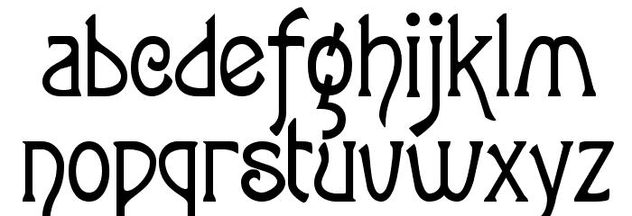 Parsnip Font Litere mici