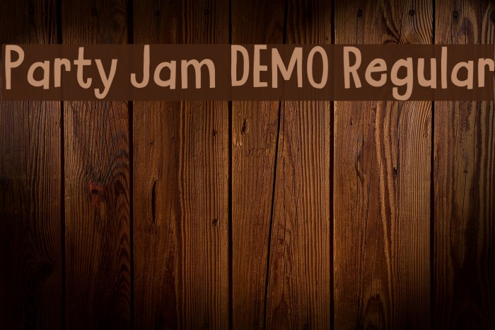 Party Jam DEMO Regular Fonte examples