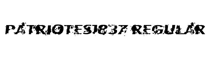 Patriotes1837 Regular  baixar fontes gratis