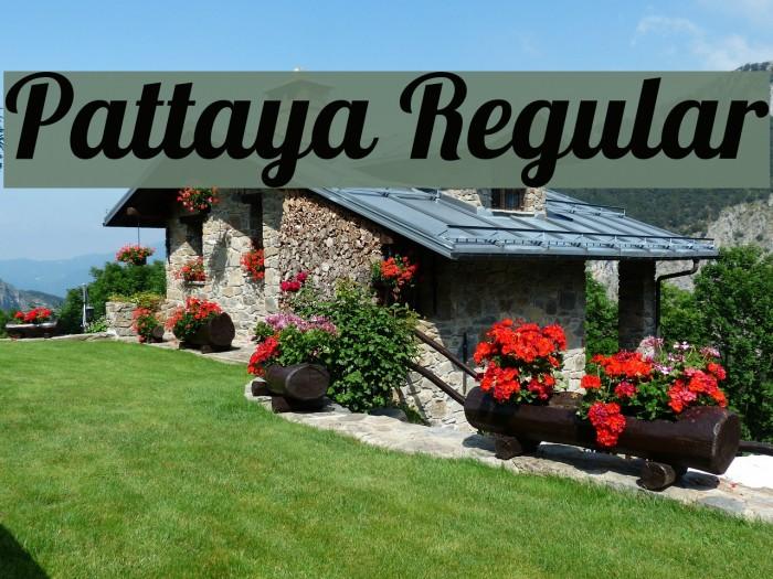 Pattaya Regular Font